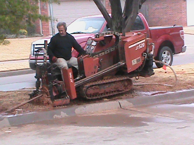 Directional Drilling under a street in Norman.